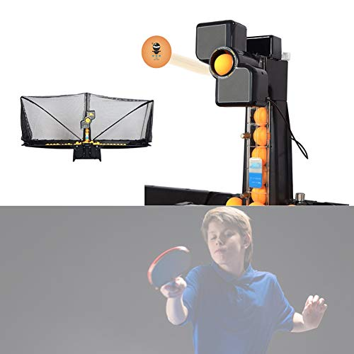 Read About Portable Table Tennis Robot with Net Multi-Angle Serve Automatic Recycling Table Tennis S...