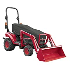Fits many popular models including John Deere 1000 & 2000 series, New Holland Boomer series, Kubota BX series, and Mahindra Max & Emax Heavy weight polyester backed fabric protects critical components, engine, electronics, and seat 4 year warranty In...