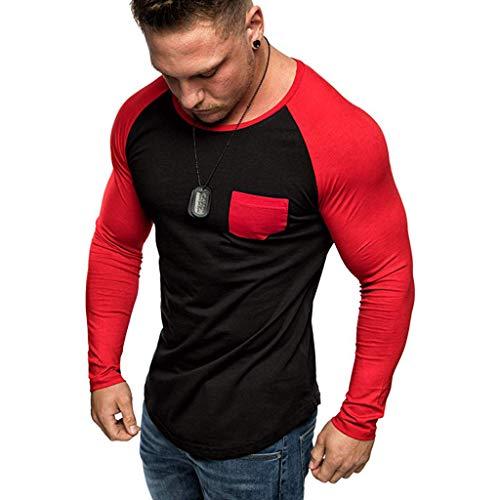 SHINEHUA T-shirts met lange mouwen heren shirt met lange mouwen ronde hals mannen met lange mouwen sweater pullover crew neck T-shirt tops lange mouwen