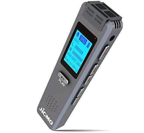 Bestes Sprachaktiviertes Aufnahmegerät Für Klare Audioaufnahme Im Meetings & Vorträge, 180 Stunden, MP3-Dateien, Gute Qualität Sound-Mikrofon, Kopfhörer, USB-Kabel, von JiGMO