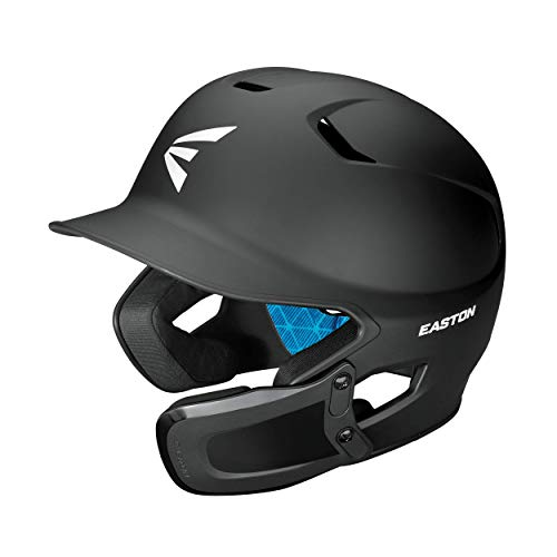 EASTON Z5 2.0 Batting Helmet w  Universal Jaw Guard, Baseball Softball, Junior, Matte Black