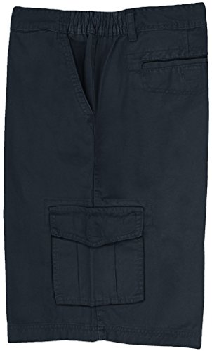 Full Blue Big Men's Cargo Shorts with Expandable Waist