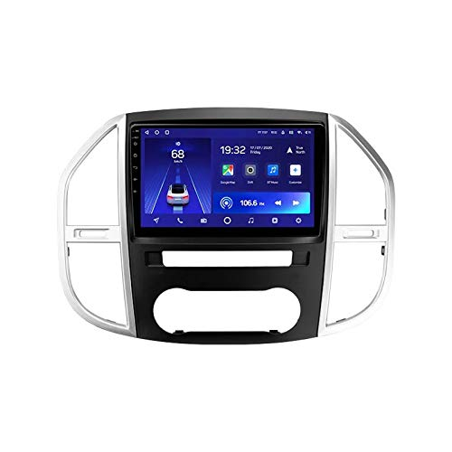 MGYQ Reproductor MP5 para Estéreo Coche, para Mercedes Benz Vito 3/W447 Radio del Coche con Pantalla Táctil HD Bluetooth USB Soporte FM Radio/Control del Volante/AUX IN/DSP/4G,Quad Core,4G WiFi 2+32