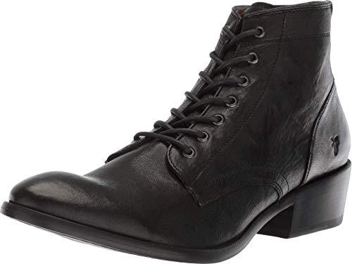 Frye Women's Carson Lace Up Combat Boot, Black Antique Soft Vintage, 8.5 Medium US