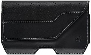 Nite Ize Clip Case Executive Leather Phone Holster - Premium Protective, Clippable Phone Holder for Your Belt Or Waistband - Extra Large - Black