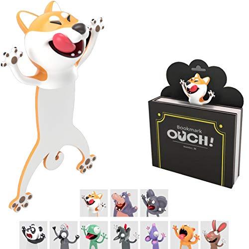 KXT Witzige 3D Cartoon Tier-Lesezeichen - Lustiges Geschenk für Kinder und Erwachsene (Hund)