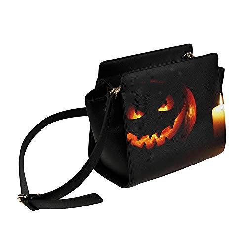 Big Bag Frauen Halloween Geschnitzte Kürbis Kerze Umhängetasche Umhängetaschen Reisetaschen Seesack Umhängetaschen Gepäck Für Dame Mädchen Frauen Umhängetaschen Für Kinder