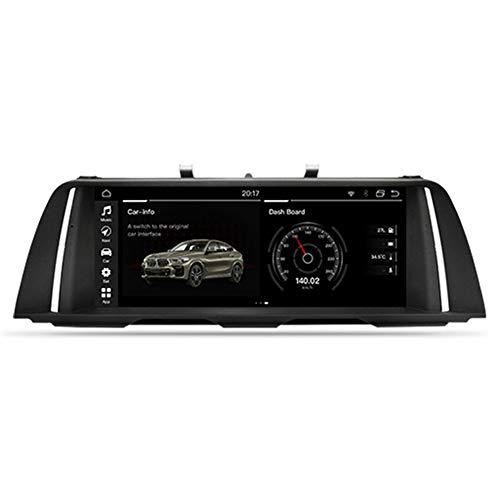 XXRUG Android Auto Stereo Navi für BMW 5er F10 F11 2013-2017 (NBT) Headunit GPS-Navigationssystem SWC 4G WiFi BT USB-Spiegelverbindung Eingebautes drahtloses Carplay