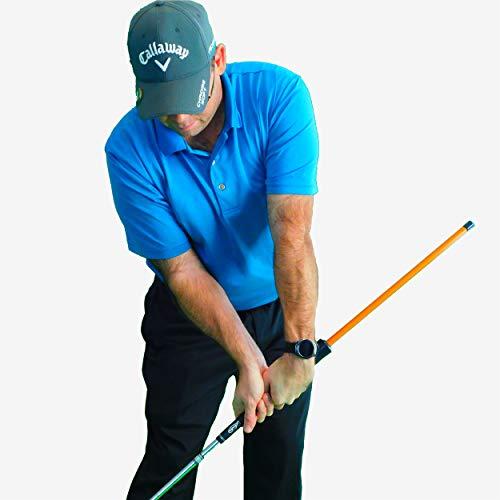 Anti-Flip Stick Impact Golf Swing Training Aid | Teaches Proper Impact & Swing Plane | Golf...