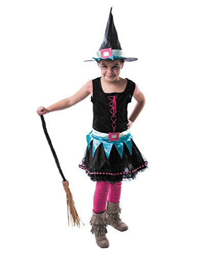 Generique - Déguisement sorcière technicolore Fille Halloween