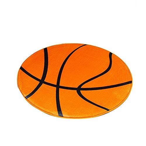 TrifyCore Diseño Precioso Baloncesto Alfombras Ronda Espacio Interior Alfombra Anti Slip Felpudo la Estera del Piso para el Dormitorio de la Sala de Orange