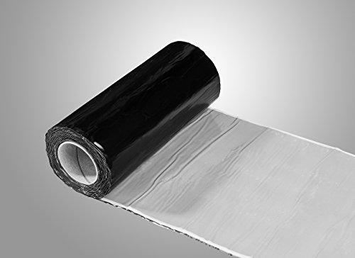 WK- ALU FLEX GLATT | 300MM x 5MTR | Selbstklebendes Wand- und Kaminanschlussband (Schwarz)