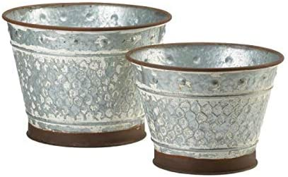 Galvanized Metal Super beauty product restock quality top Planter Translated Flowers Pot Holder Vegetables