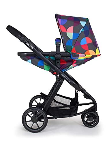 Cosatto Giggle Cochecito, silla de paseo y asiento de bebé 2 en 1 paquete – desde el nacimiento hasta 18 kg, sistema de viaje ligero, caleidoscopio