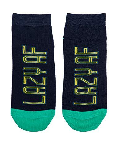 Soxytoes Men's Cotton Ankle Socks (STS0190_Blue_Free Size)