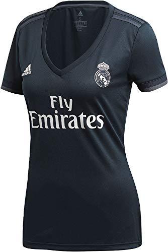 adidas Real Madrid 2018/2019 Camiseta 2ª Equipación, Mujer, Negro, M