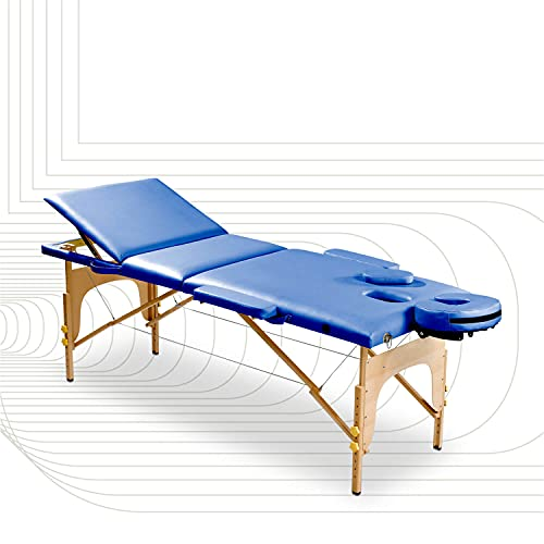SportPlus - Table de massage Ultra Confortable - Mousse Rigide 5 cm d'épaisseur - Similicuir PU Certifié non polluant - Capacité de Charge: 200kg - Housse de Transport incluse - Pliable