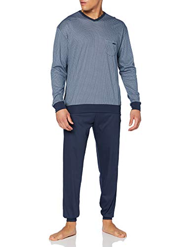 CALIDA Herren Relax Choice Pyjamaset, Indigo Mood, XL