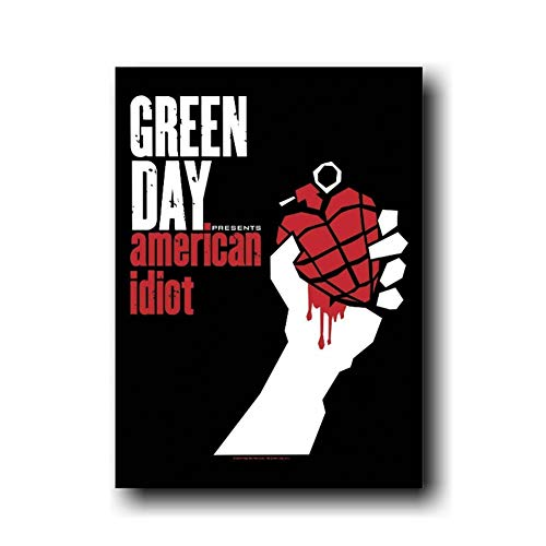 DNJKSA Green Day American Idiot Music Album Star Painting Poster Prints Canvas Picture For Home Room Decor-50x70cm No Frame