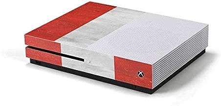 Skinit Decal Gaming Skin for Xbox One S Console - Originally Designed Peru Flag Distressed Design