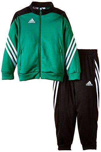 adidas Unisex - Kinder Trainingsanzug Sereno14, bold grün/schwarz/weiß, 164, F49709