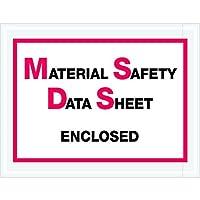 Tape Logic TLPL99 Material Safety Data Sheet Enclosed Envelopes 6 1/2 x 5 Red/Black (Pack of 1000) [並行輸入品]