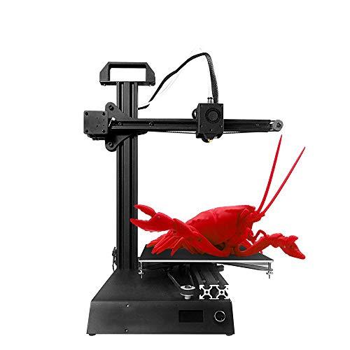 HUANGLP Impresora 3D Mini Instalación rápida resolución Barato Educación Studens de Bolsillo de Alta precisión Full Metal Kit de Bricolaje