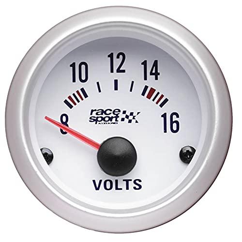 Sumex GAUG484 Voltímetro Race Sport, Diámetro 52 mm, 12V
