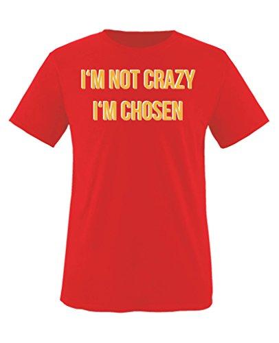 Comedy Shirts - I\'m not Crazy. I\'m Chosen - Orange is The New Black - Mädchen T-Shirt - Rot/Weiss-Gelb Gr. 134/146