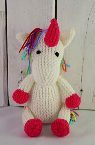 Licorne peluche licorne tricoté main jouet licorne arc-en-ciel licorne jouet crochet licorne