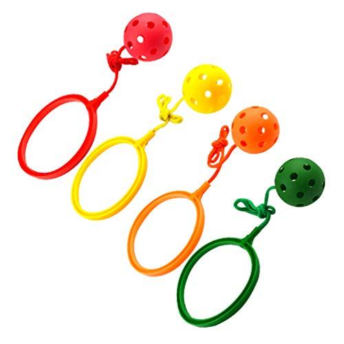 jojofuny Set di Palla Sportiva Swing I Bambini Saltano La Palla Palla Anello di Salto alla Caviglia I Bambini Saltano Il Giocattolo della Palla Saltare Il Giocattolo Sport di Fitness per