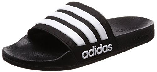 Adidas Adilette Shower, Herren Dusch- & Badeschuhe, Schwarz (Core Black/Footwear White/Core Black 0), 44 1/2 EU