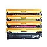 Para HP Color LaserJet Pro CP5225 CP5225 CP5225 CP5225DN CP5220 Impresora Reemplazo de cartucho de tóner compatible con HP CE740A 307A con cartuchos de cartuchos de set