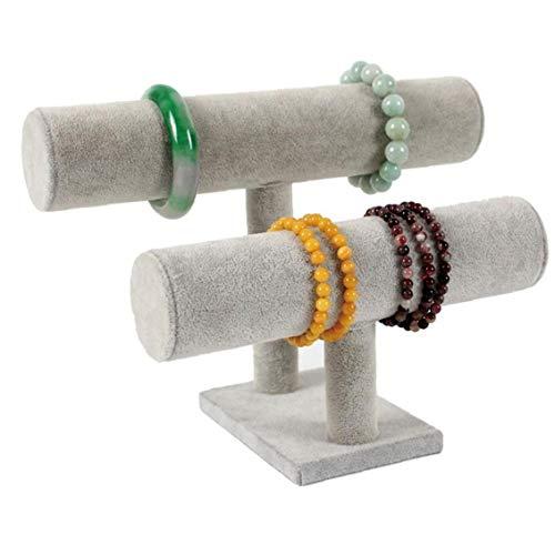 Angoter Organizador De La Joyería con Doble Nivel Colgantes Pulsera Soporte De Exhibición del Estilo Simple