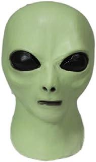 Hengyutoy Mask Máscara alienígena de látex, Glow in The Dark UFO Fiestas de Carnaval Extraterrestres Máscaras de Terror