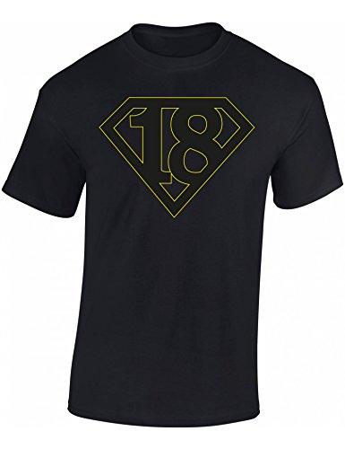 Super 18 - Regalo de cumpleaños para Hombre-s y Mujer-es - años - Annata 2003 - Camiseta Divertida - Fun-Shirt - Humor - Unisex - Birthday (XL)