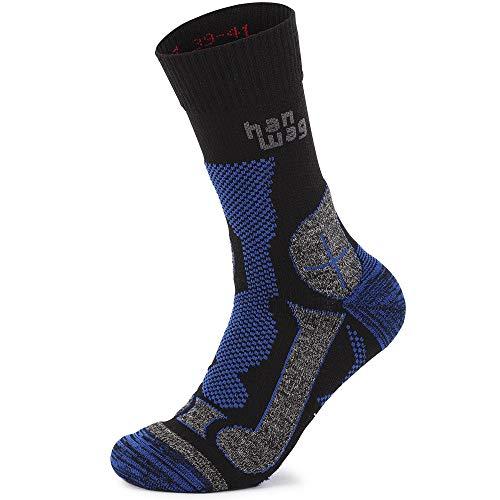Hanwag Trek Merino Socken Black/royal Blue Schuhgröße EU 42-44 2021