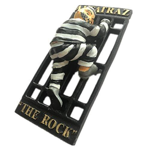 Alcatraz Island San Francisco Kalifornien Amerika Kunstharz 3D starker Kühlschrank Magnet Souvenir Tourist Geschenk Chinesische Magnet Hand Made Craft Creative Home und Küche Dekoration Magnet Sticker