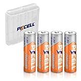 NiZn AA - Batería recargable para cámara (2500 mWh, 1,6 V, 4 unidades, incluye 1 estuche de batería