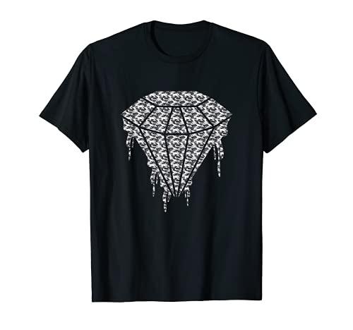 Diseño de diamante de crying de camuflaje blanco Camiseta
