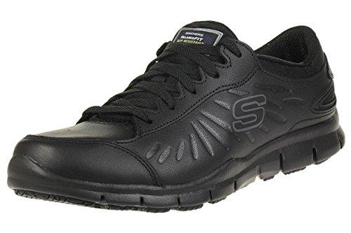 Skechers Eldred, Zapatos de Seguridad Mujer, Negro (BLK Black Leather), 39 EU