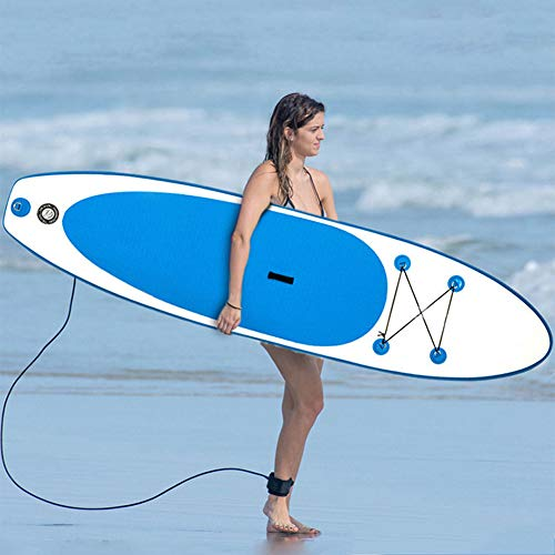 LANGWEI Tabla Inflable De Stand Up Paddle, Tabla De Surf Inflable con Accesorios De Sup Premium Correa Sup Tabla Surf Aletas Paddle Wakeboard Surf Kayak
