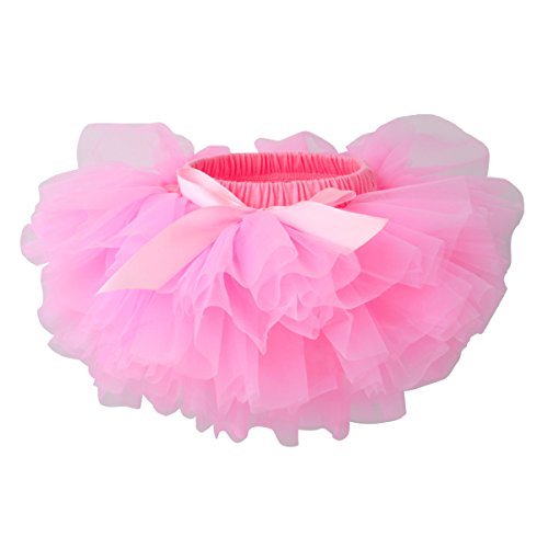 Slowera Baby Girls Soft Tutu Skirt (Skorts) 0 to 36 Months (M: 6-12 Months, Pink)