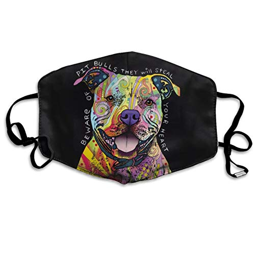 Dxichy Pitbulls Dog Reusable Mouth Warm Windproof Cotton Face Outdoor Mask