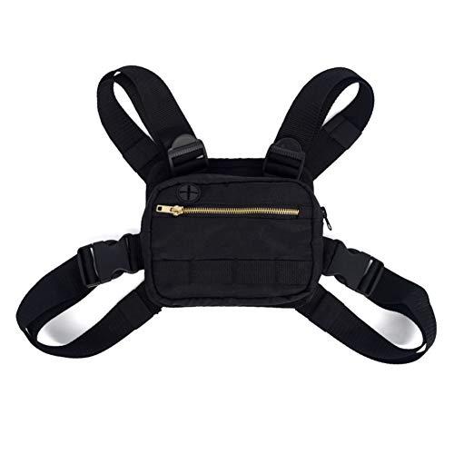 Ardorlove Chest Rig Bag - Outdoor Travel Single Shoulder Bag - Hip Hop Adjustable Crossbody Shoulder Bags for Men Women