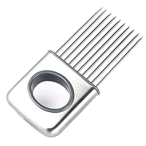 Berrywho Todo en Uno Cebolla Cebolla máquina de Cortar práctico Soporte de Acero Inoxidable Cebolla removedor portátil Corte de la Cocina Gadget