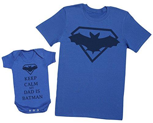 Keep Calm My Dad is Batman - EIN Teil - Teil des Sets - Blau - 6-12 Monate - Baby/Kinder
