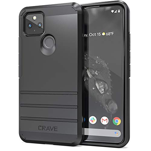 Crave Pixel 4a 5G Schutzhülle, Strong Guard Protection Series Hülle für Google Pixel 4a (5G) – Schwarz