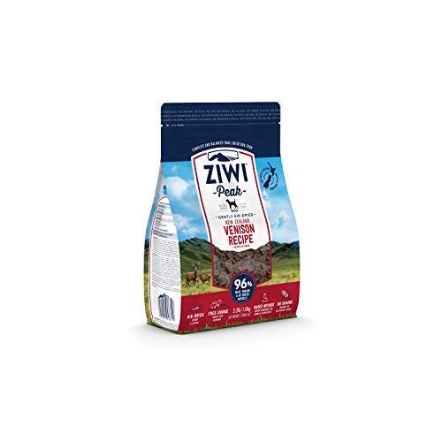 ZIWI Peak Air-Dried Dog Food – All Natural, High Protein, Grain Free & Limited Ingredient with Superfoods (Venison, 2.2 lb)