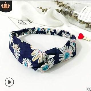WENPINHUI Elastic cross sports hair band ladies Korean headband headband elastic face wash hair accessories (Color : Beige)
